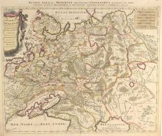 MAP OF AN EXPANDING RUSSIAN EMPIRE by Schenk, Pieter