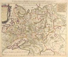 MAP OF AN EXPANDING RUSSIAN EMPIRE by Schenk, Pieter
