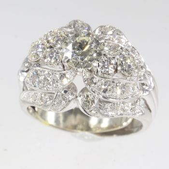 Vintage Fifties diamond cocktail ring by Unknown Artist