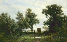 Homeward bound after haymaking by Jan Willem van Borselen