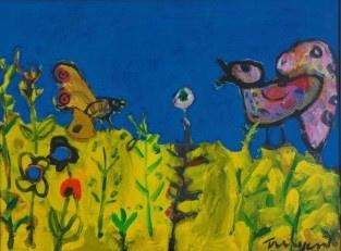 'Vogel, vlinders en bloemen' by Hans Truijen