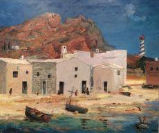 Mediterranean village by Harm Kamerlingh Onnes
