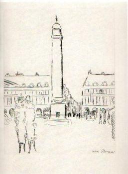 Place Vendome by Kees van Dongen