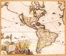 North and South America  by  Carolus Allard