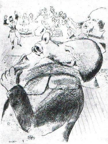 Revelations de Nozdriov by Marc Chagall