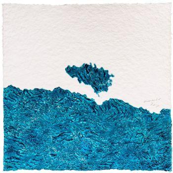 'Landschaft (blau)' by Armando .