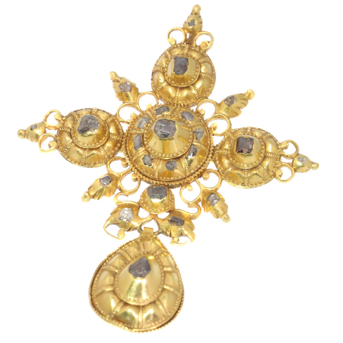 17th Century gold and diamond cross by Unknown