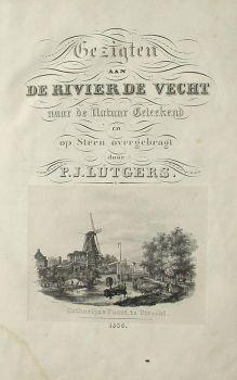 Views on the river 'The Vecht' by Petrus Josephus Lutgers