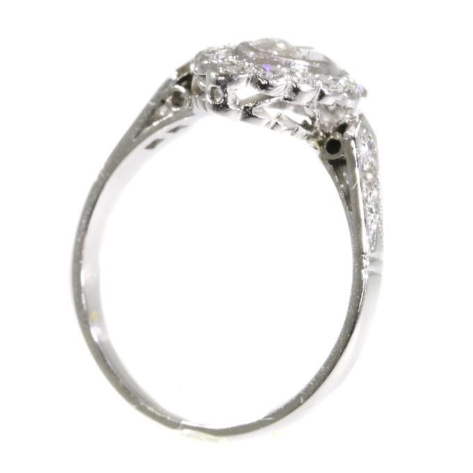 Vintage Fifties platinum engagement ring with diamonds by Unknown Artist