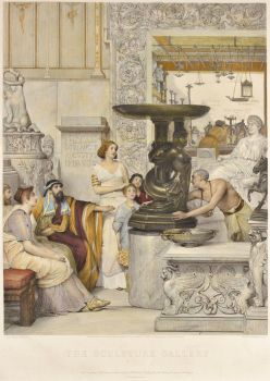 The Sculpture Gallery  by Lawrence Alma-Tadema
