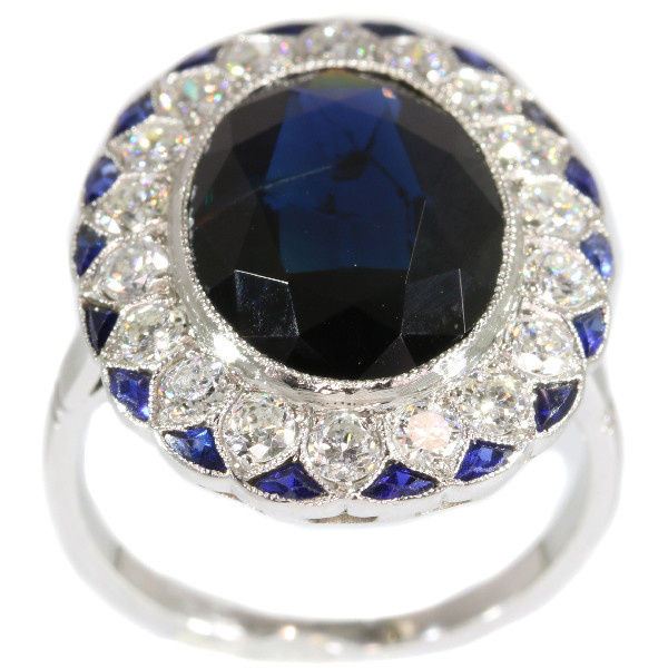 The ultimate Art Deco diamond and sapphire engagement ring model Lady Di by Unknown