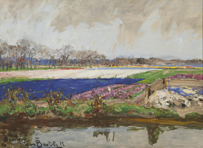 Bulb fields near Haarlem by Hans von Bartels