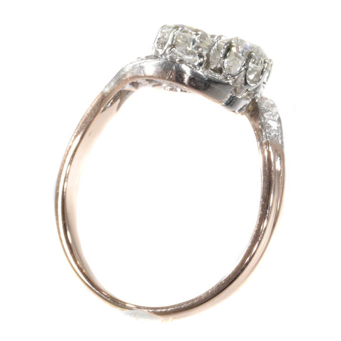Belle Epoque romantic diamond toi et moi engagement ring - French for you and me by Unknown