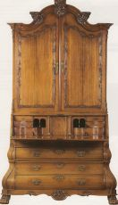 A colonial bureau-cabinet by Unknown Artist