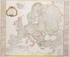 Europe antique map  by  Kitchin