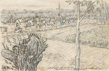 Workers on the field by Jan Toorop