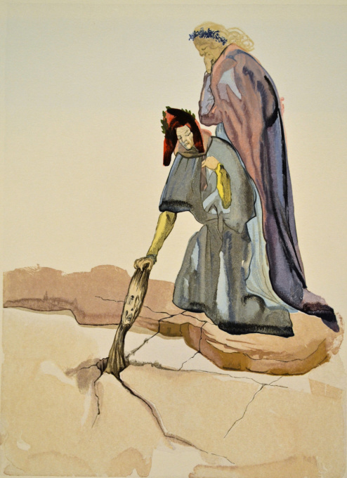 Divina commedia inferno 32 by Salvador Dali