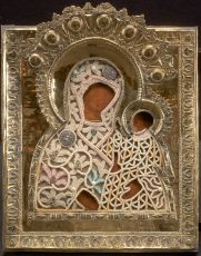 Antique Russian icon: Mother of God of Suzdal by Unknown Artist