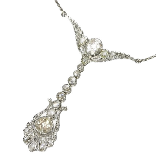 Belle Epoque diamond pendant by Dutch supplier to the court by Unknown Artist
