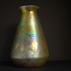 Ceramic art nouveau vase  by Clement Massier