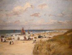 Zonnige dag op het strand van Zandvoort by Ernst Hildebrand