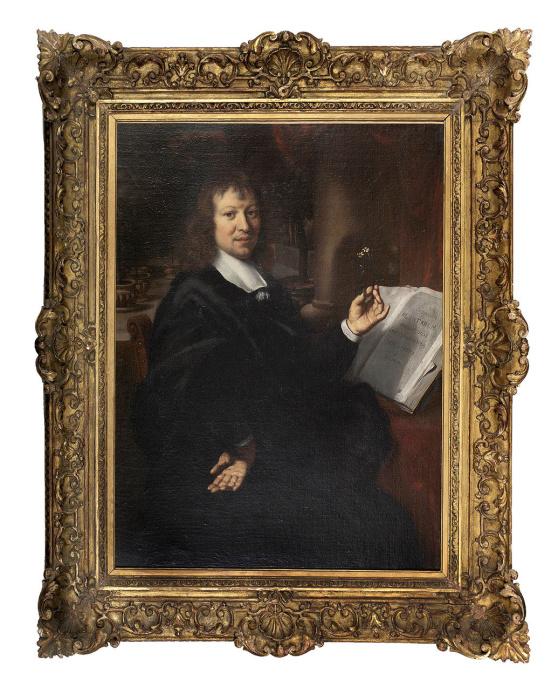Portrait of the botanist Johannes Commelin by one of Rembrandt's best pupils by Gerbrand vanden Eeckhoudt