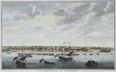 GEZICHT OP DE WATERKANT TE PARAMARIBO    by Unknown Artist