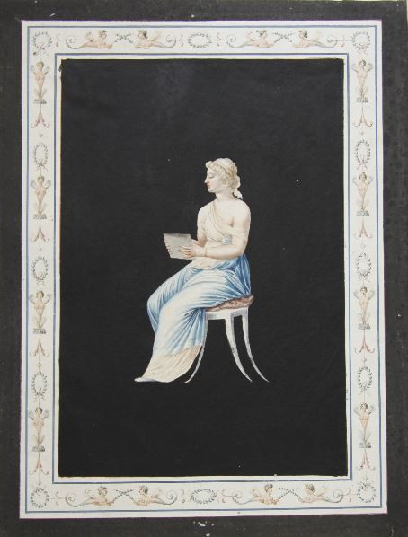 Set of eight gouache drawings by Unknown Artist