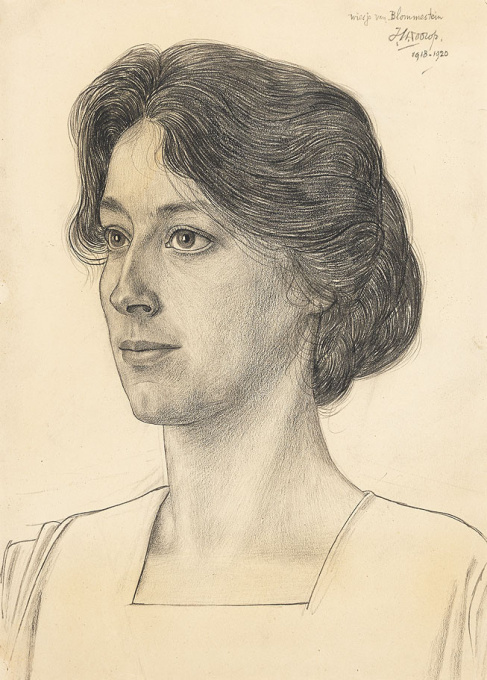Wiesje Blommestein by Jan Toorop