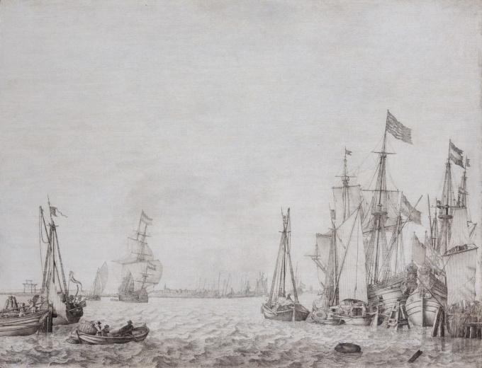 Amsterdam Harbour View by Willem van de Velde the Elder