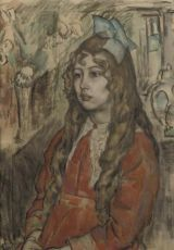 Portrait of a young girl by Leo Gestel