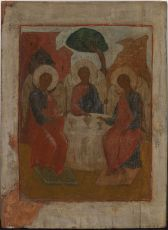 No 14 The Old Testament Trinity Icon, Genesis by Unknown Artist