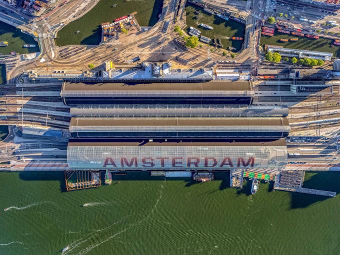 Central Station - Amsterdam Aerials by Jeffrey Milstein