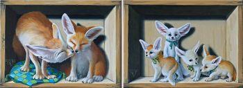 Family Fennek by Suzan Visser