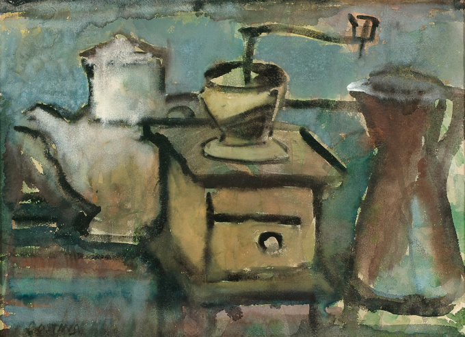 Still life with coffee grinder by Jeanne Bieruma