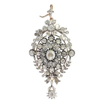 Antique Victorian multi-use diamond jewel can be worn as ring, pendant or brooch by Unknown Artist