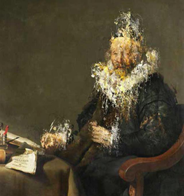 De schrijvende man (The writing man) by Frank Vogt