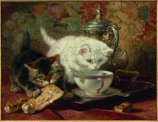High tea by Henriëtte Ronner-Knip