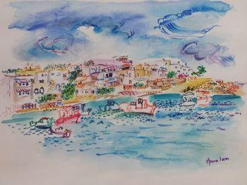 Sailing in Koufonisia Greece  by Iam Anna
