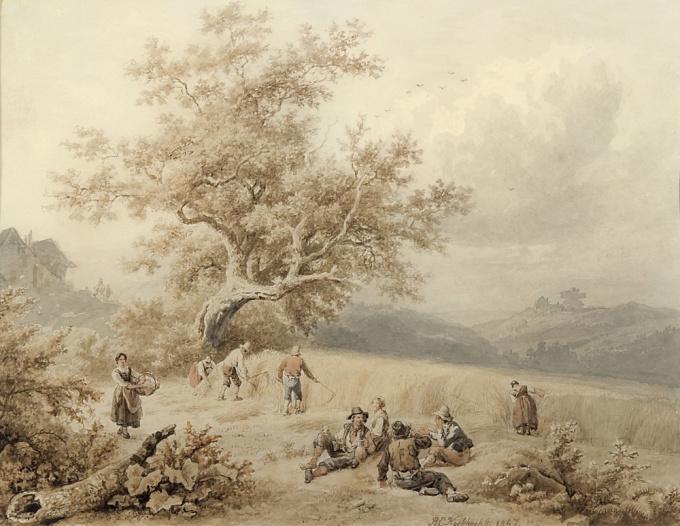 Harvest time by Barend Cornelis Koekkoek