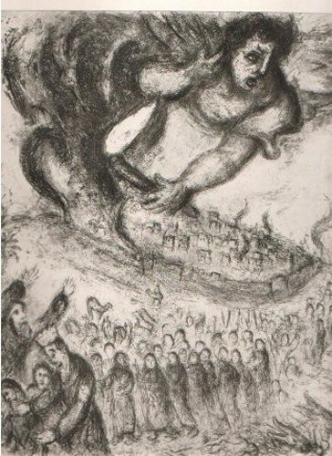 Prise de Jerusalem  par Nabuchodonosor by Marc Chagall