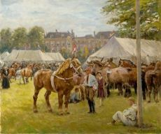 The national draft horse exhibition on the 'Malieveld', The Hague by Jan Hoynck van Papendrecht