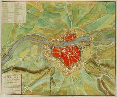 Plan de la Ville de Maestricht avec ses Attaques Commandées par M. le Marechal de Saxe, depuis le 15