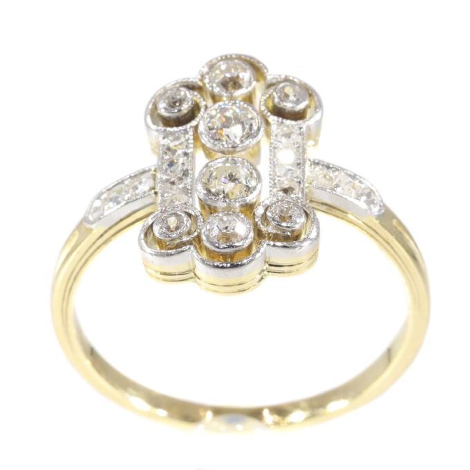 Vintage diamond Art Deco engagement ring by Unknown Artist