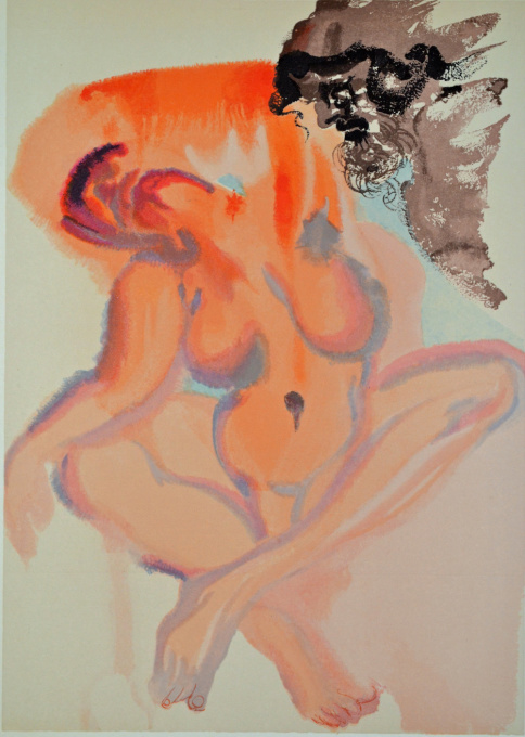 Divina commedia purgatorio 03 by Salvador Dali