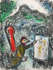 Devant Saint-Jeannet - Near Saint-Jeannet by Marc Chagall