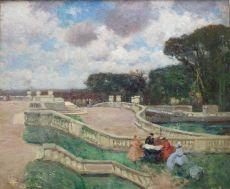 Au Jardin du Luxembourg by Fernand Toussaint