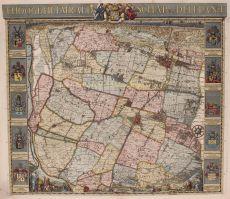 DE KAART VAN DELFLAND, MEESTERWERK VAN DE GEBR. CRUQUIUS by Cruquius, Jacob
