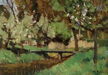 Behind the painter's studio by Nicolaas Bastert