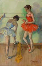 Two ballerinas by Willem Dooijewaard